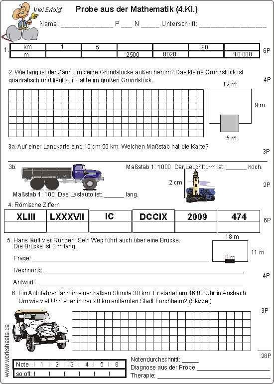 Fantastisch Alltags Mathe 4Klasse Arbeitsblatt Zeitgenössisch ...