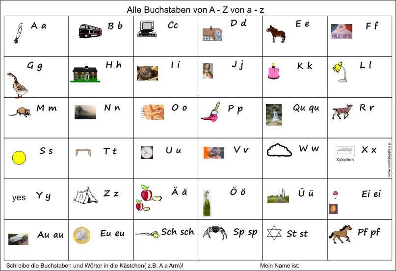 Arbeitsblatt Deutsch Umlaute : Test alle buchstaben umlaute
