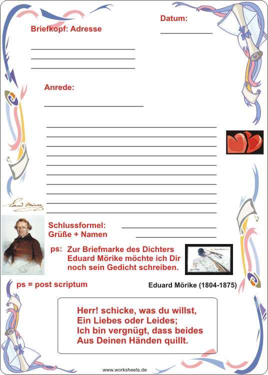 Briefe Schreiben Einleitungssätze : Briefe schreiben