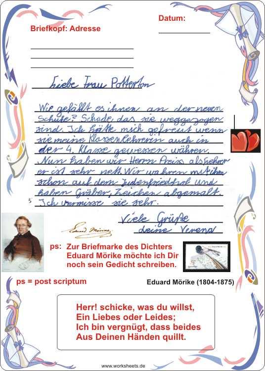 Persönliche Briefe Schreiben Grundschule : Briefe schreiben