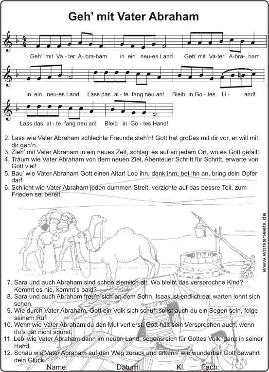 Vater Abraham Hat Sieben Söhne Text