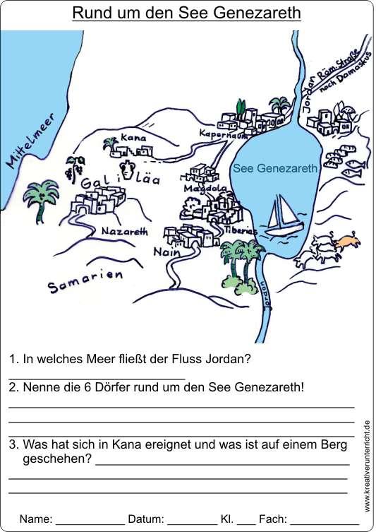 see genezareth karte ISRAEL   Rund um den See Genezareth mit Karte