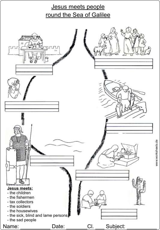 jesus kommt zu den menschen rund um den see genezareth und findet seine j nger. Black Bedroom Furniture Sets. Home Design Ideas