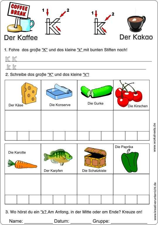 buchstabe kk kreativ deutsch lernen