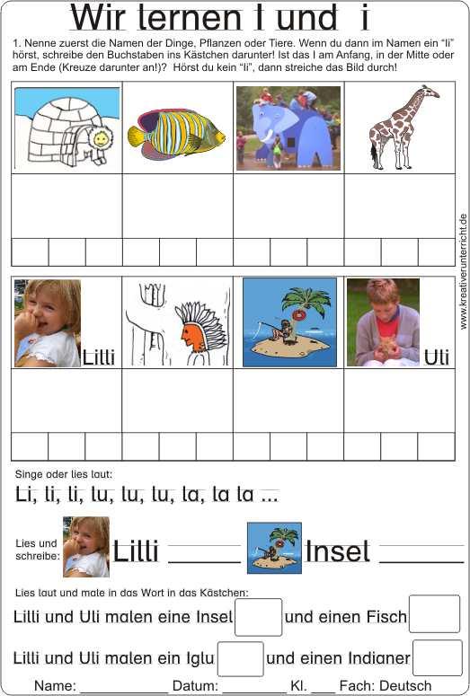 wir lernen den buchstaben  und  lesen und schreiben