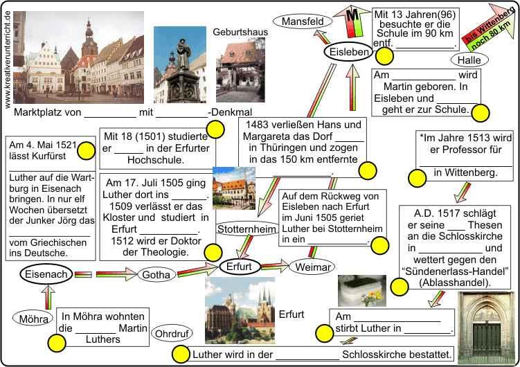 Martin Luther Lebenslauf Geogrophische Darstellung