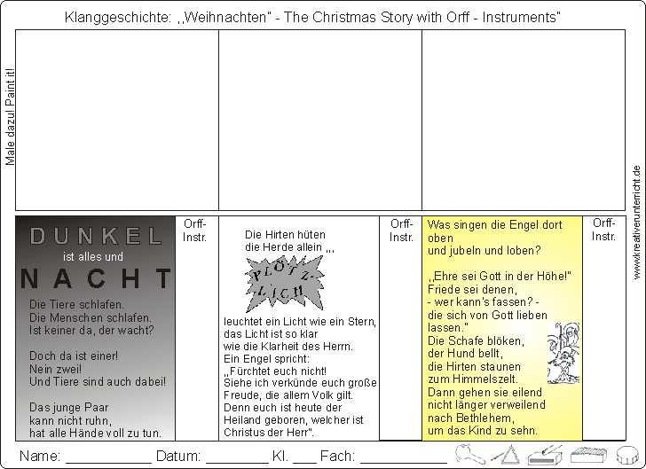 klanggeschichte weihnachten christmas story with orff. Black Bedroom Furniture Sets. Home Design Ideas