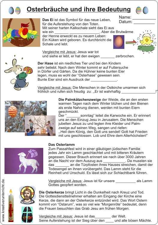 Arbeitsblatt Deutsch Ostern: Kindergarten arbeitsblätter ostern ...
