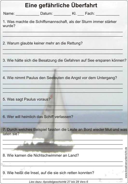 Paulus - Schiffbruch