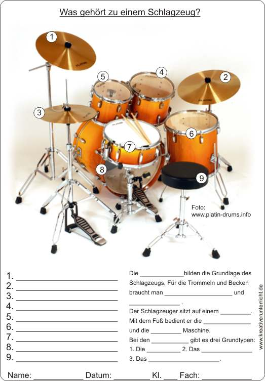"Videoclip ""Schlagzeug lernen"" - Video Clip ""Learning Drum Kits ..."
