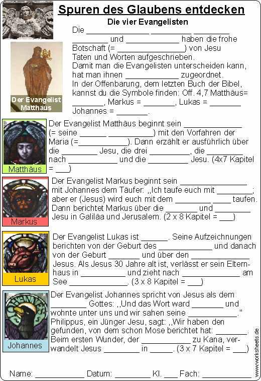 die vier evangelisten symbole
