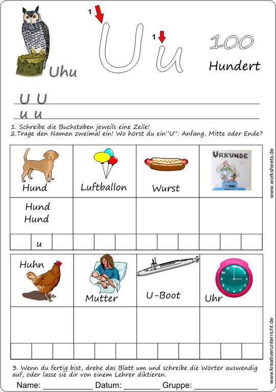 Arbeitsblatt Buchstaben Lernen : Arbeitsblatt vorschule arbeitsblätter buchstaben