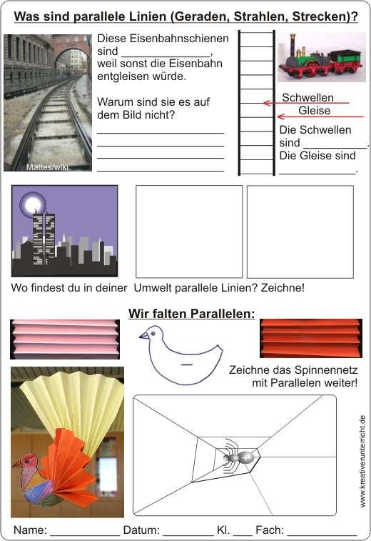 Schön Arbeitsblatt 3 Parallele Linien Durch Querschnitt Bilder ...