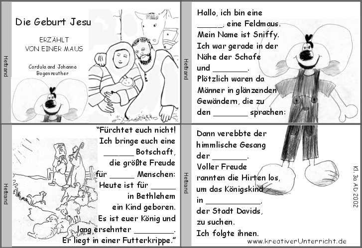 Die Geburt Jesu erzählt von einer Maus