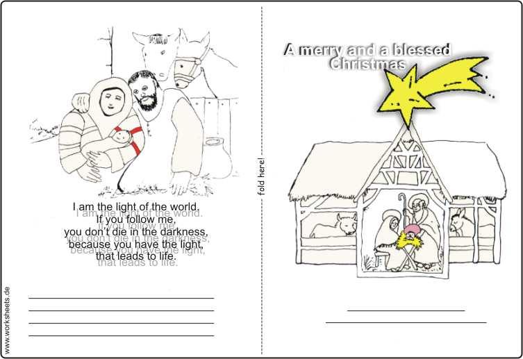 Weihnachtskarten kostenlos basteln und malen zu weihnachten - Weihnachtskarten drucken gratis ...