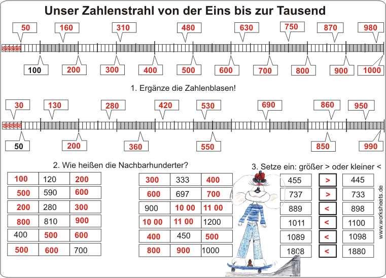 Mathe klasse 3 zahlenstrahl 2478081 - memorables.info